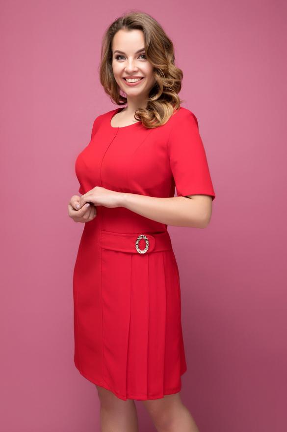 Платье красное Давина