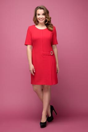 Платье красное Давина 2029