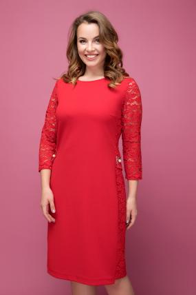 Платье красное Джулия 2041