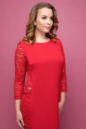 Платье красное Джулия 2042