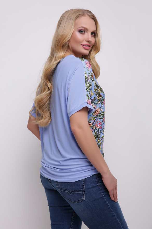 Блуза голубая Скарлет