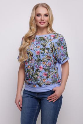 Блуза голубая Скарлет 2047