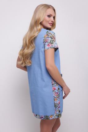 Платье-туника голубое Лана 2049