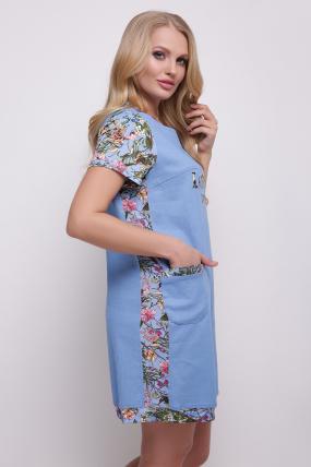 Платье-туника голубое Лана 2050