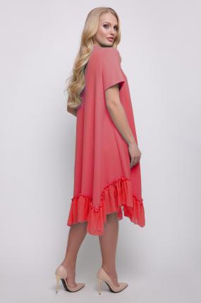 Платье коралловое Алла