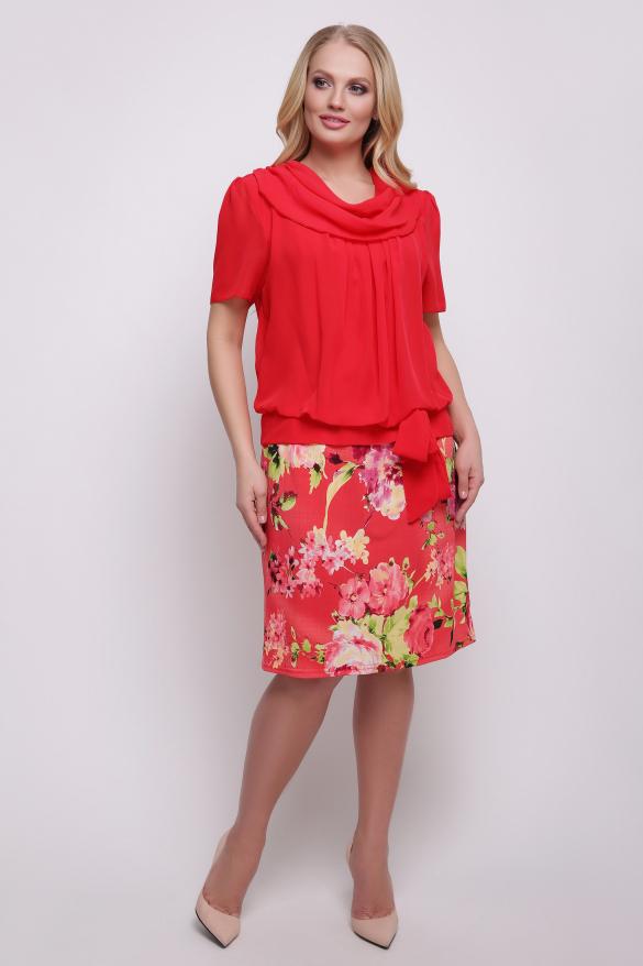 Платье красное Турция