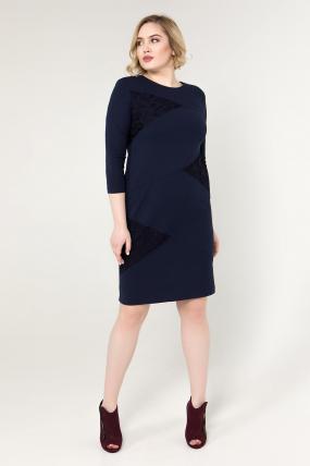 Платье синее Эльвира 2070