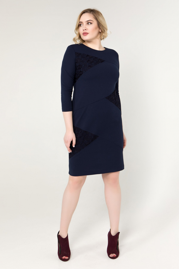Платье синее Эльвира