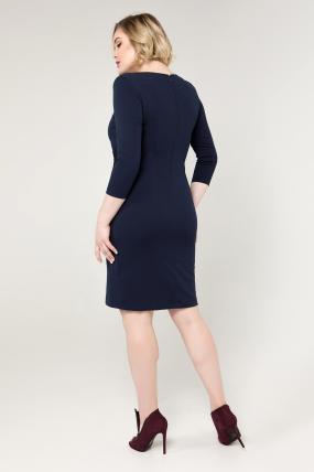 Платье синее Эльвира 2071