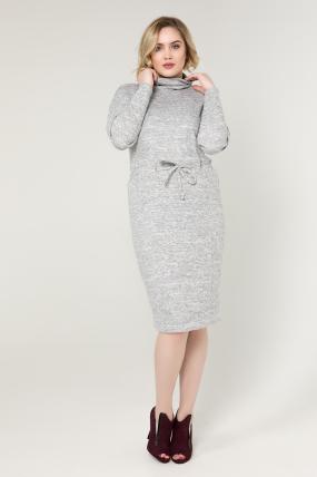 Платье серое Регина 2079