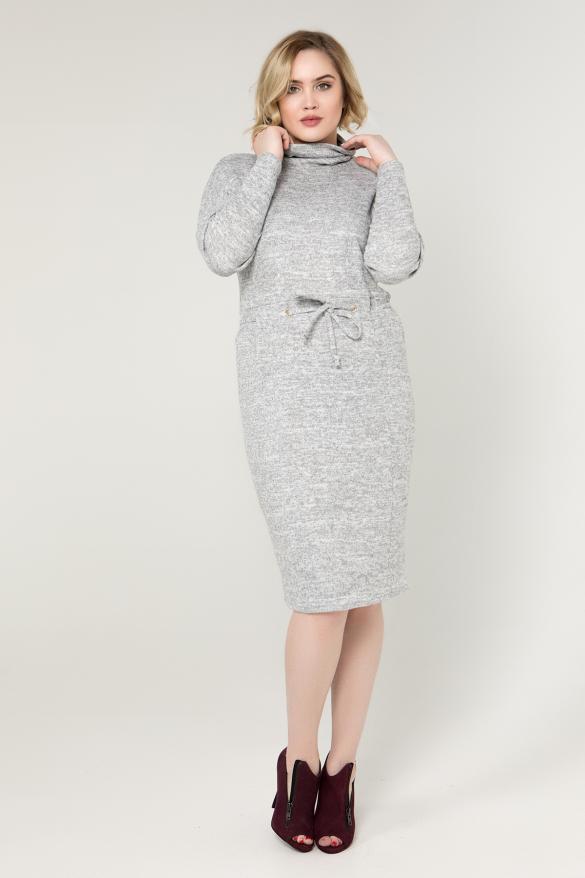 Платье серое Регина