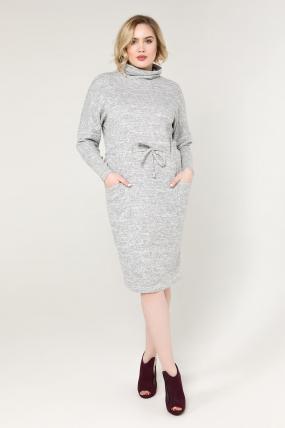 Платье серое Регина 2080
