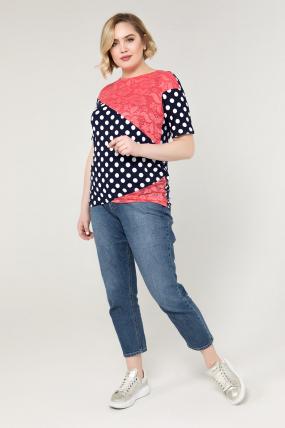 Блуза коралловая Нина 2086