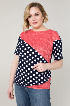 Блуза коралловая Нина 2087