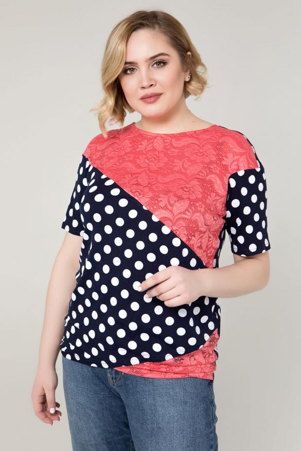 Блуза коралловая Нина