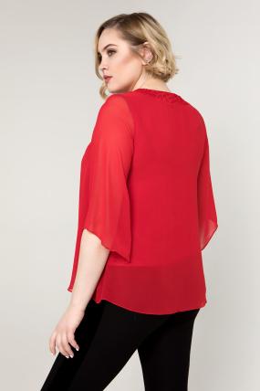 Блуза красная Арина 2097