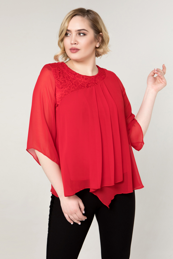 Блуза червона Аріна