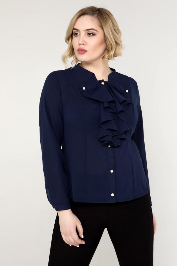 Блуза темно-синя Галина