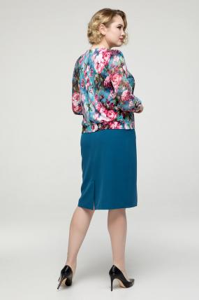Платье бирюзовое Инесса 2138