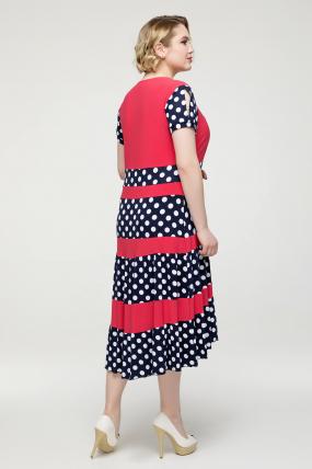Платье коралловое Вишня 2144