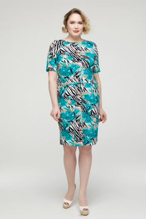 Платье бирюзовое Мозайка