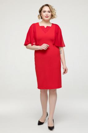 Платье красное Яна 2148
