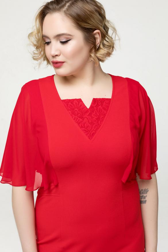 Платье красное Яна