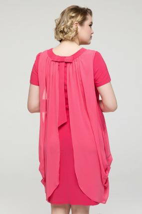 Платье коралловое Бони 2151
