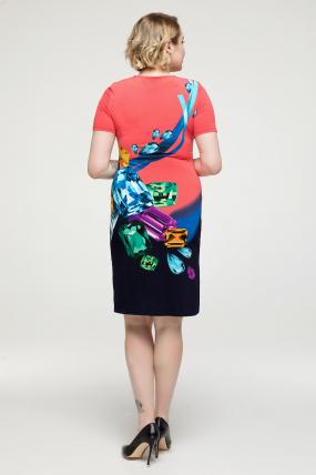 Платье коралловое Бриллиант 2158