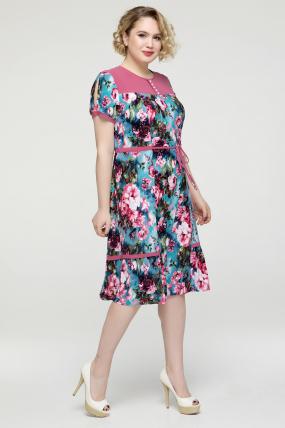 Платье розовое Вера