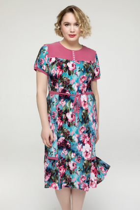Платье розовое Вера 2164