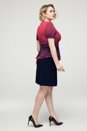 Платье темно-синее Баска 2167