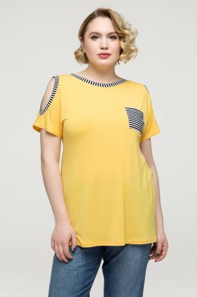 Туника желтая Жанна 2171