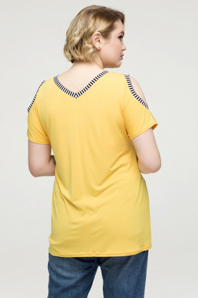 Туніка жовта Жанна 2172