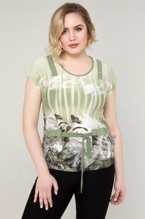 Блуза оливковая Аглая