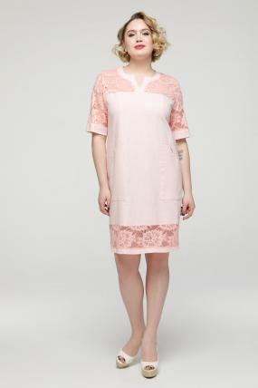 Сукня пудра Тетянка 2187