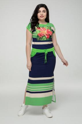 239a76b567a Платье зелёное Миледи