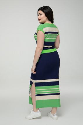 Платье зелёное Миледи 2249