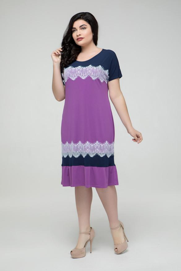 Платье сиреневое Аида