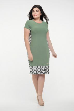 Платье оливковое Анжела 2281