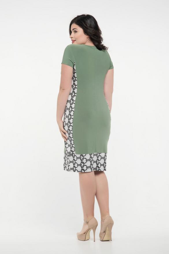 Платье оливковое Анжела