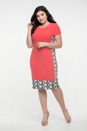 Платье коралловое Анжела 2283