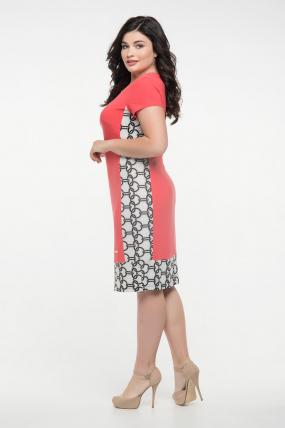 Платье коралловое Анжела 2284