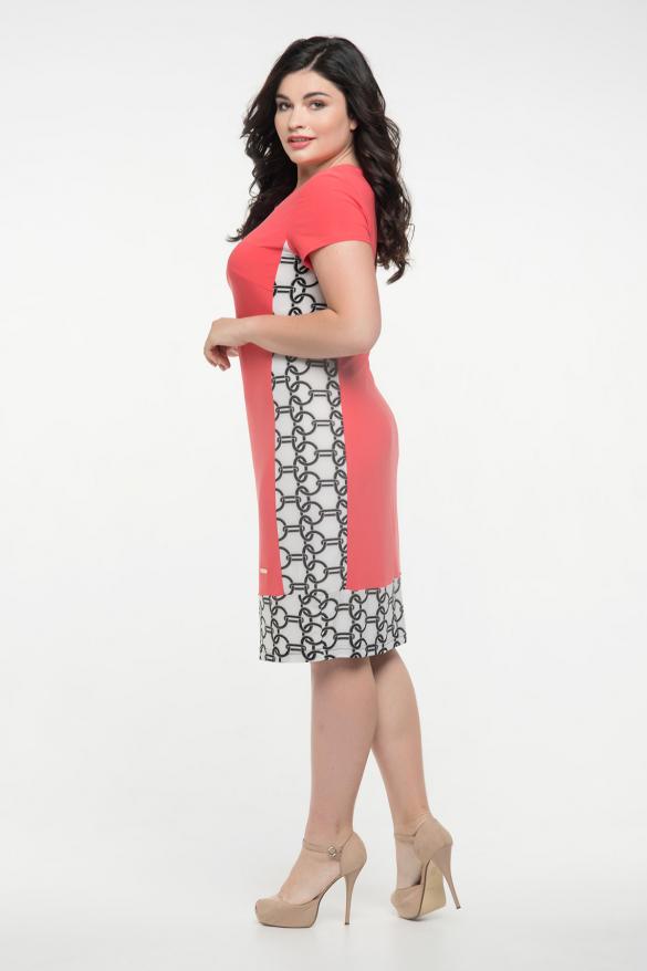 Платье коралловое Анжела