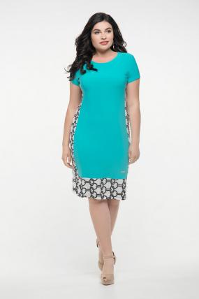 Платье бирюзовое Анжела 2287