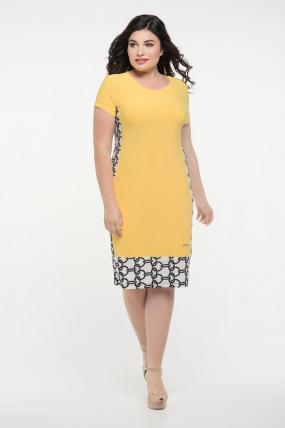 Платье жёлтое Анжела 2289