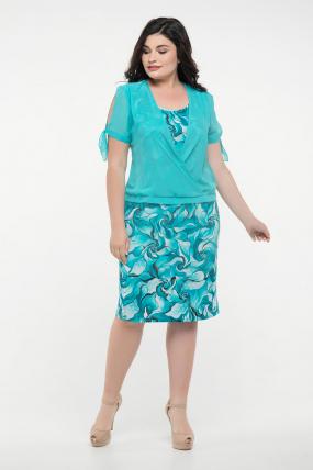 Платье бирюзовое Ольга