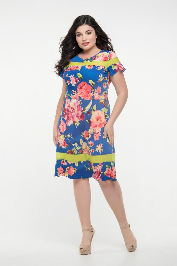 Платье синее Морика