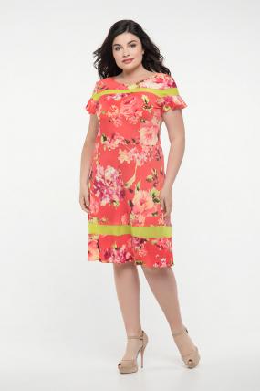 Платье красное Морика 2302