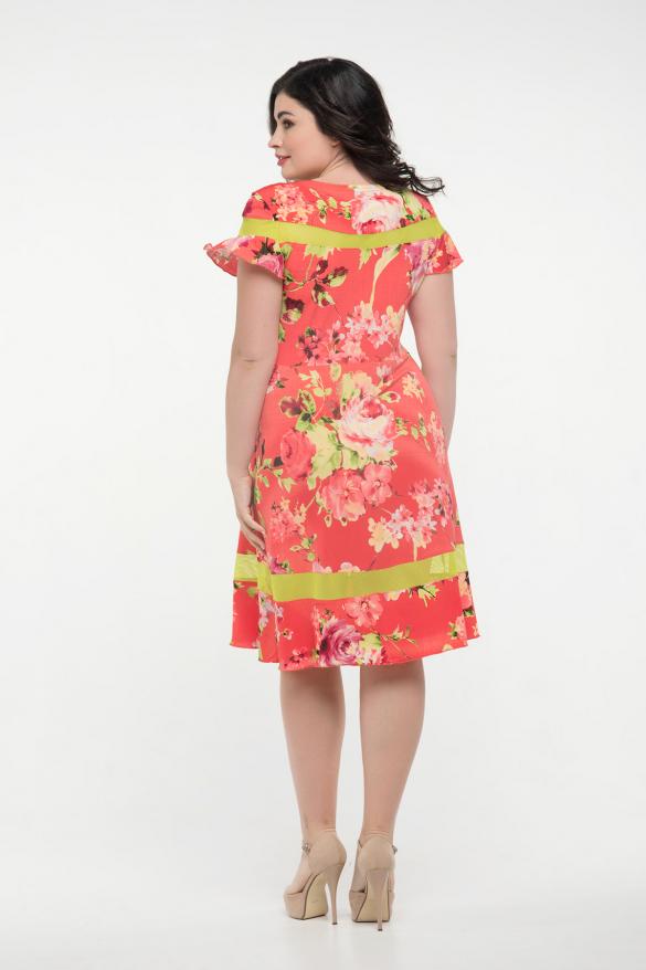 Платье красное Морика